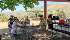 roger lori catherine tony at picnic shel