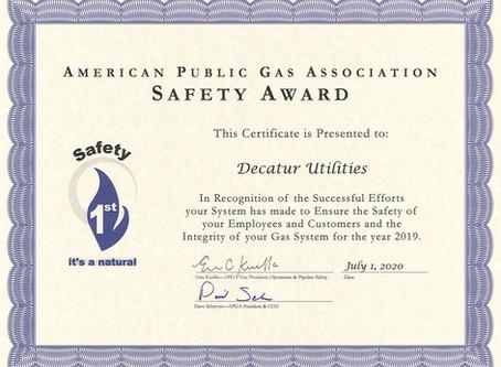 DU wins APGA Safety Award