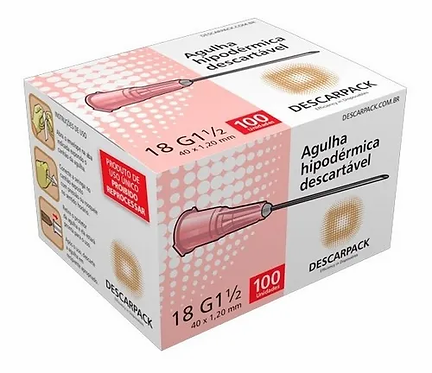 AGULHA HIPODERMICA DESCARPACK 40 X 1.20MM