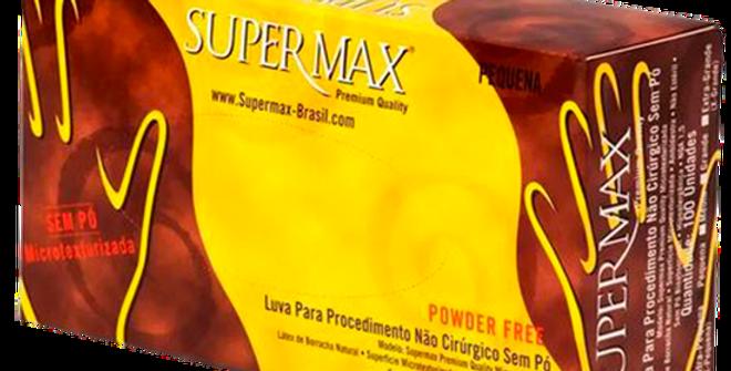 Luva Procedimento Látex Sem Talco Powder Free Tam M C/100 Supermax
