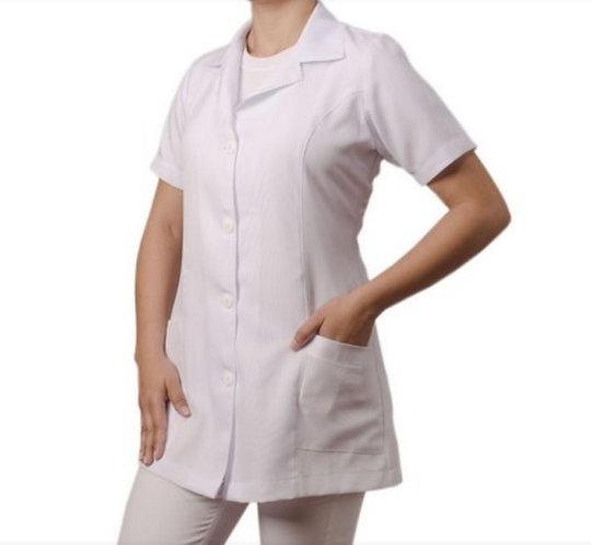 Jaleco feminino manga curta tamanho G