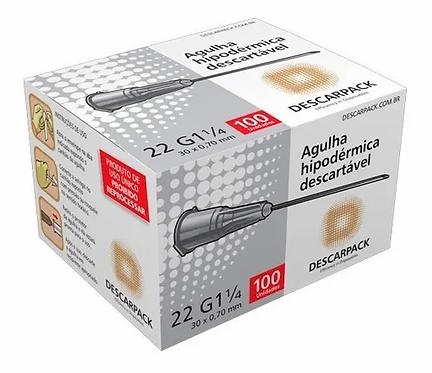 AGULHA HIPODERMICA DESCARPACK 30 X 0.70MM