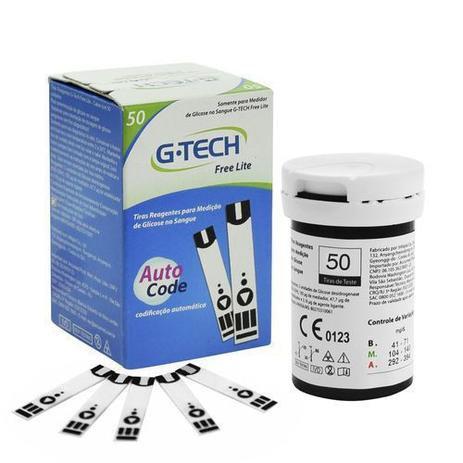 Tiras Reagentes G-tech Lite C/ 50