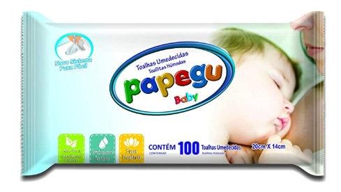 TOALHAS UMEDECIDAS PAPEGU BABY C/100UN