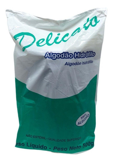 ALGODÃO HIDRÓFILO DELICATO 500G