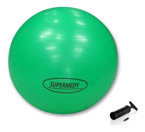 Bola De Pilates Yoga Suiça Ginástica 75 Cm Supermedy + bomba