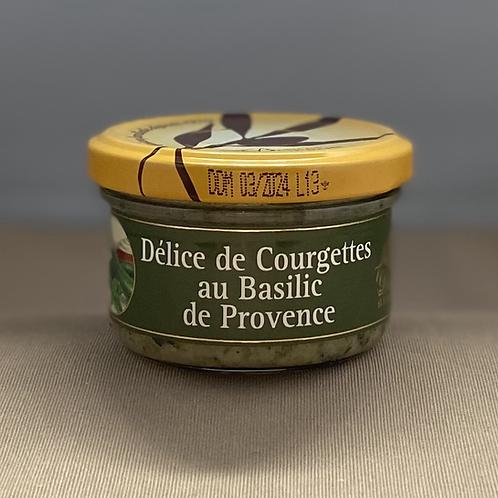 Délice de courgettes au basilic de Provence, 90g