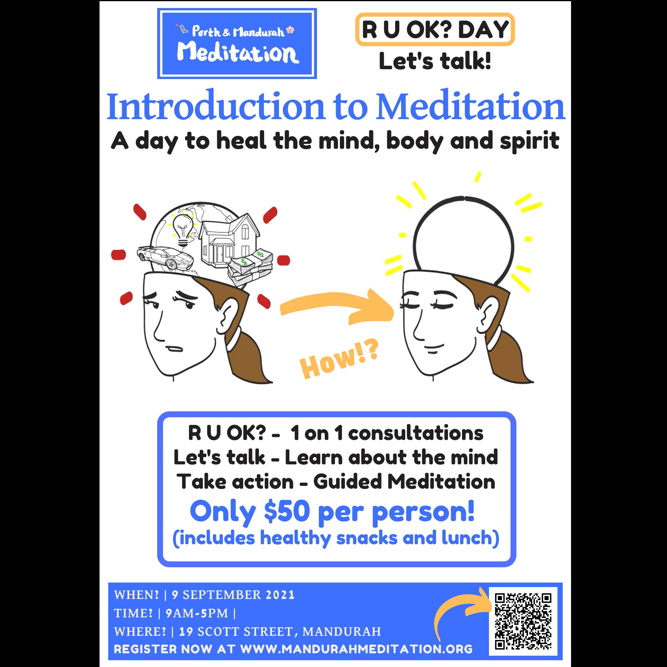 R U OK Day - Introduction to Meditation