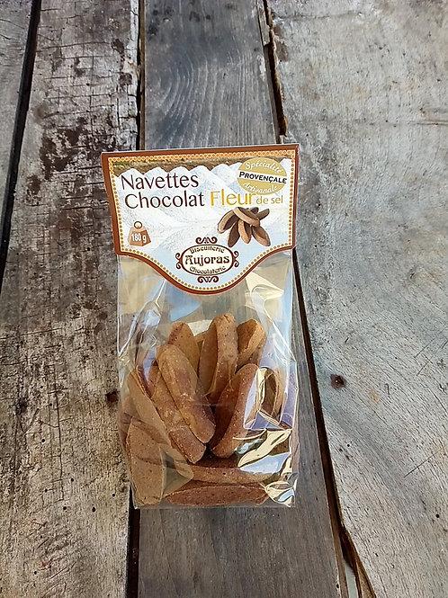 Navettes chocolat fleur de sel, 180g