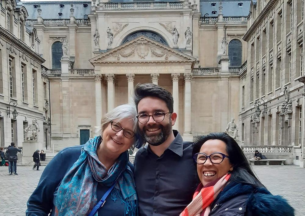 Tish jennings, Nicolas Brun et Tiana Razakazafy - Programme CARE - Paris Sorbonne Février 2020