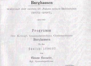 Seminare in Burghausen anno 1896/97