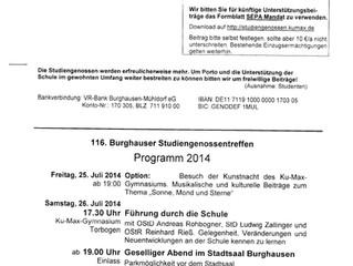 116. Burghauser Studiengenossentreffen