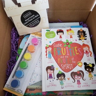 Personalized book packages with paint kit
