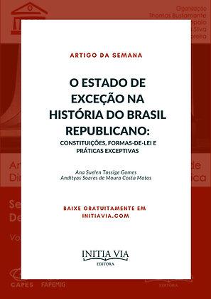 O estado de exceção na História do Brasil Republicano