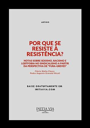 Por Que Se Resiste À Resistência? Notas sobre sexismo, racismo e LGBTfobia