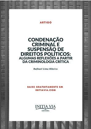 Condenação criminal e suspensão de Direitos Políticos