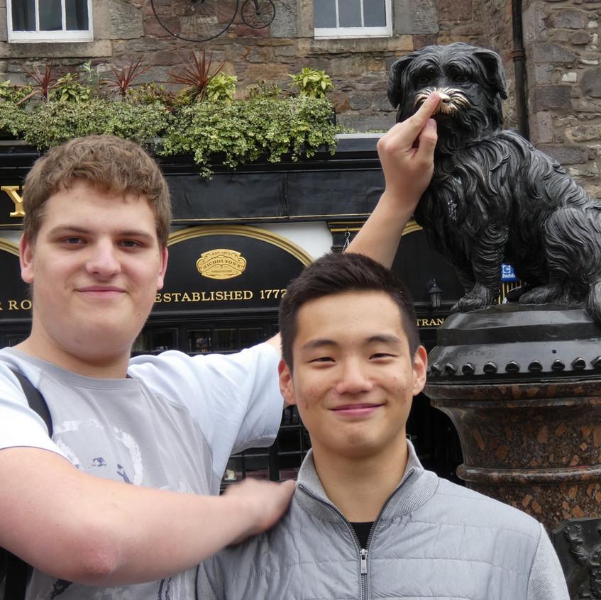 Erasmus visit Greyfriars Bobby