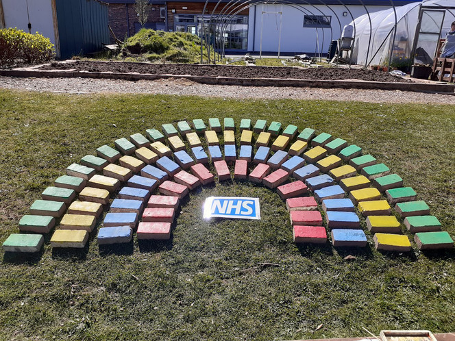 Wallace Hall pupils take an active part in thanking the NHS