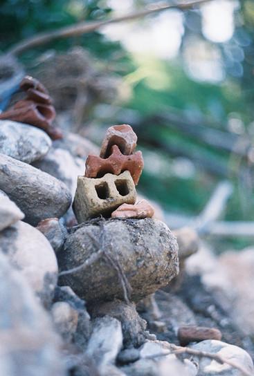brick debris