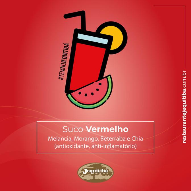SUCO VERMELHO: VITA C e E. SABOROSO E REFRESCANTE.