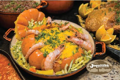 Camarão na Moranga - Restaurante Jequitibá.