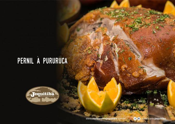 Aqui tem um clássico: Pernil à Pururuca