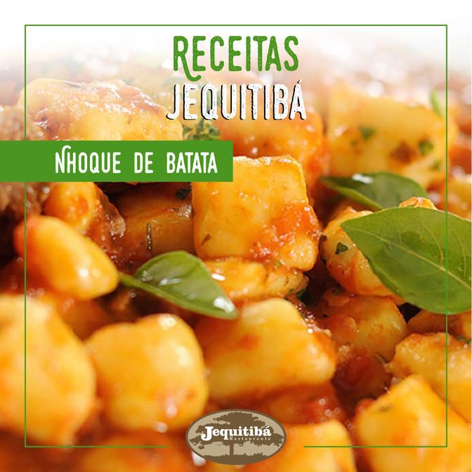 RECEITAS JEQUITIBÁ   Nhoque de Batata