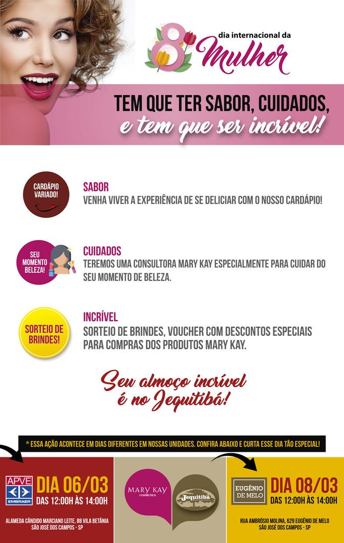 Na semana da MULHER o Restaurante Jequiitibá preparou um evento imperdível!