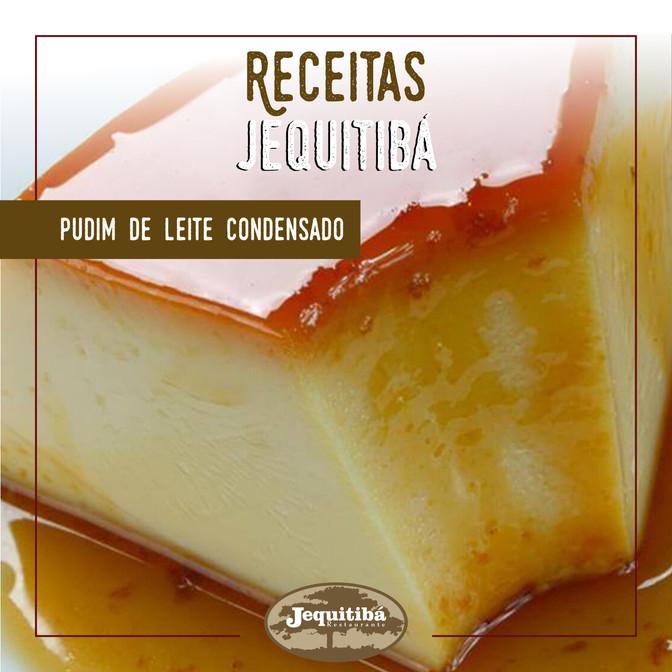 RECEITAS JEQUITIBÁ   PUDIM DE LEITE CONDENSADO