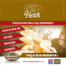 HAPPY HOUR É NO JEQUITIBÁ!