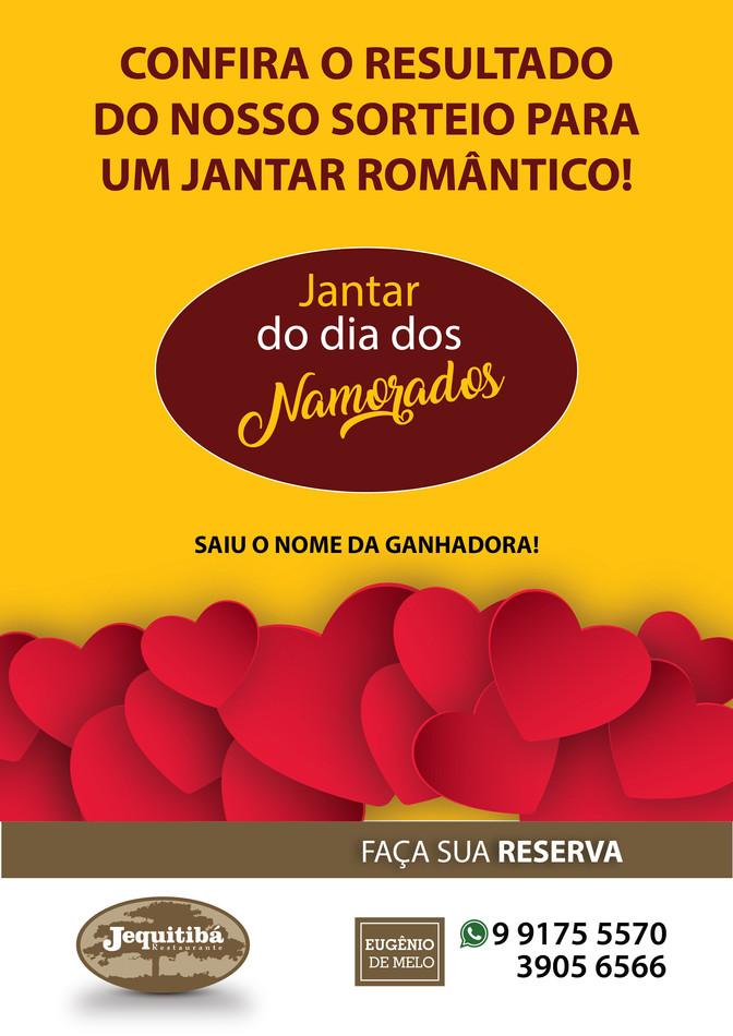 Resultado do Sorteio para um delicioso Jantar Romântico no Jequitibá!