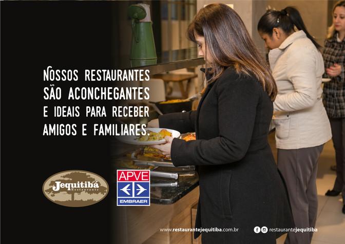 Nossos restaurantes são aconchegantes E ideais para receber amigos e familiares.