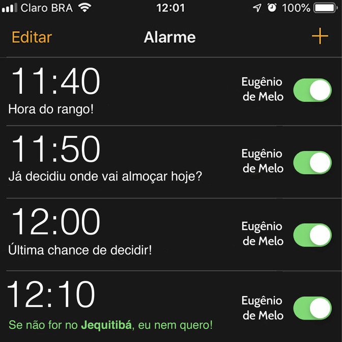 Alarme do Sabor!