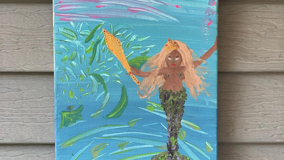 Millennial Mermaid 9x12