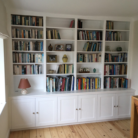 Bookshelve and cupboard unit
