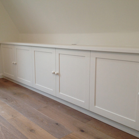 Low level shaker style cupboards
