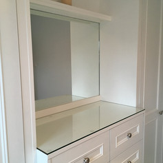 Regency style glass topped drawer unit and wardrobes