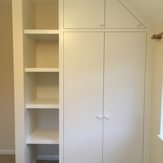 Alcove wardrobes and shelving