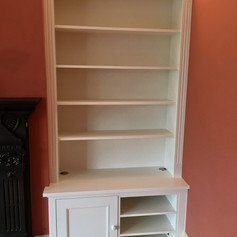 Alcove shelving and cupboard unit
