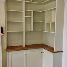 Corner cupboards and shelving unit