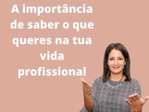 A importância de saber o que queres para a tua vida profissional