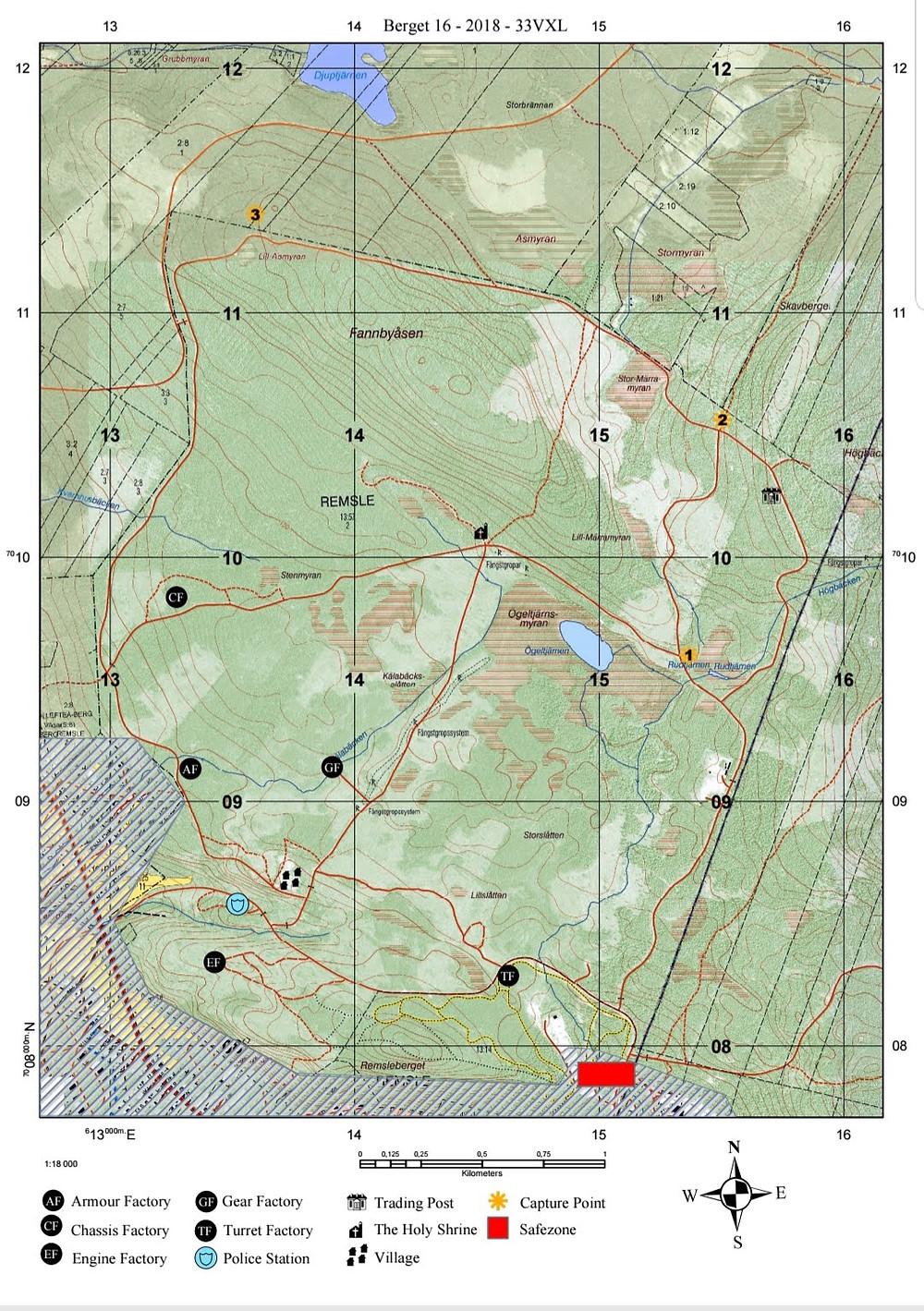 Berget-16 Map