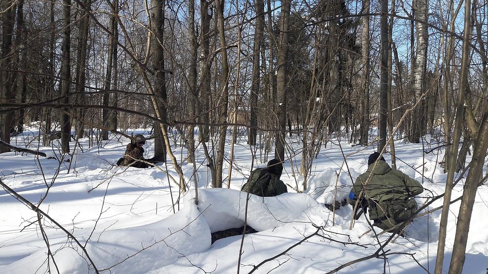 Страйкбол, оборона в лесу