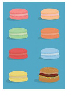 Macarons Burger