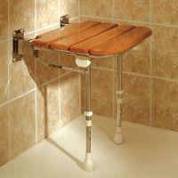Wooden shower seat