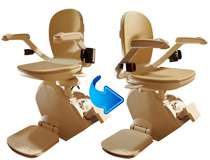 Brooks Out Door Stair LIft Seat Swivelling