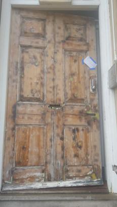 Door burning off & rott repair