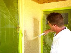 Exterior painting spraying Somerset