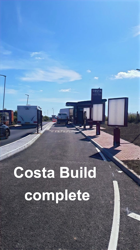 A costa drive thru build we carried out as principle contractors in Cornwall