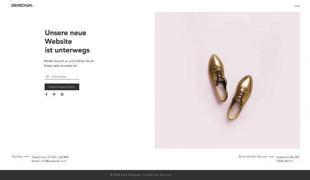 Html homepage vorlagen f r demn chst verf gbar wix for New online shoping site